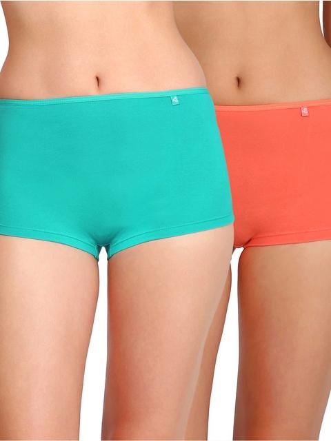 Jockey Women Pack of 2 Boys Shorts