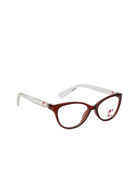 Clark N Palmer Unisex Brown Solid Full Rim Cat-eye Frames
