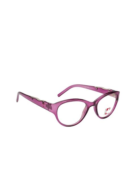 Clark N Palmer Unisex Purple Embellished Full Rim Cateye Frames