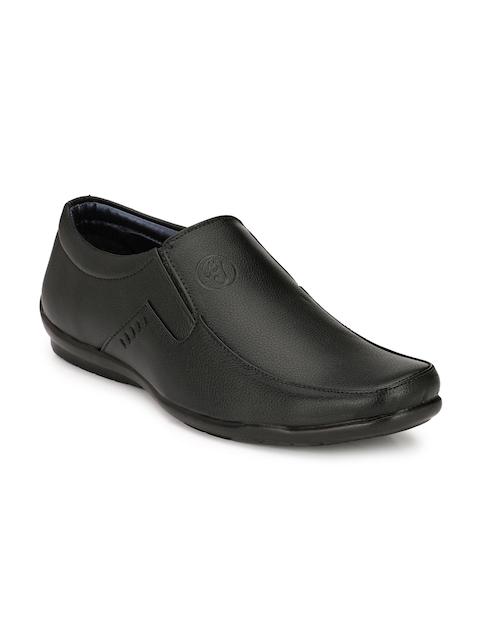 Eego Italy Men Black Slip-On Shoes