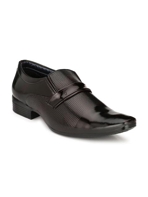 Eego Italy Men Black Formal Slip-Ons