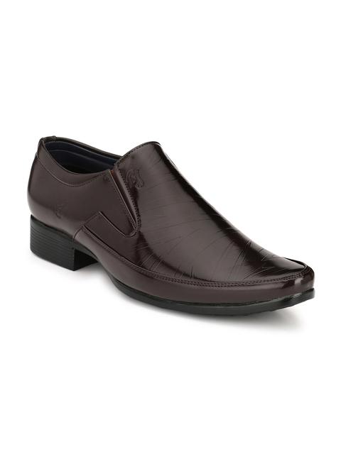 Eego Italy Men Brown Formal Slip-Ons