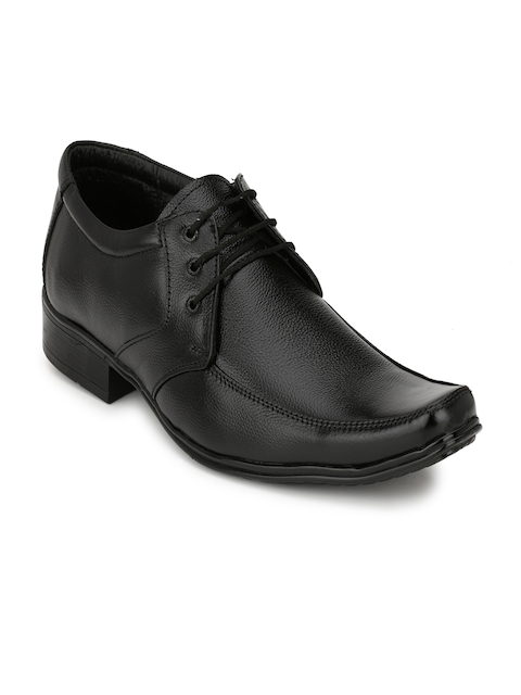 Eego Italy Men Black Leather Formal Shoes