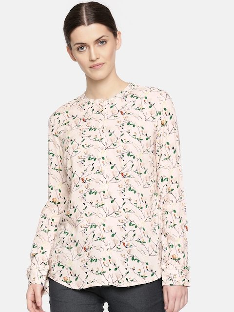 Arrow Woman Pink Regular Fit Printed Casual Shirt