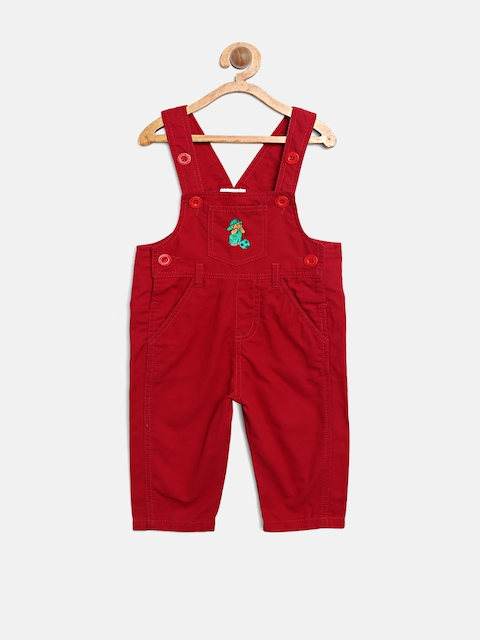 Baby League Boys Red Dungarees