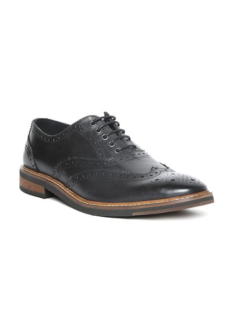 Levis Men Black Leather Brogues