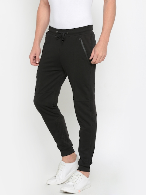 Pepe Jeans Men Black Slim Fit Solid Joggers
