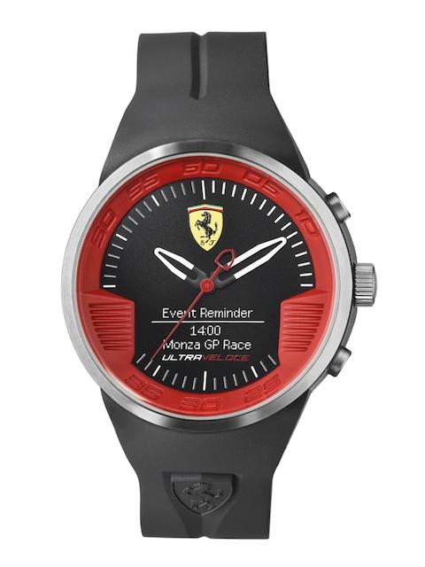 Scuderia Ferrari Men Black Ultraveloce Smartwatch 0830373