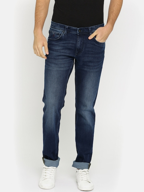 Indian Terrain Men Blue Slim Fit Low-Rise Clean Look Stretchable Jeans
