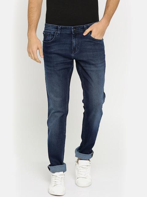 Indian Terrain Men Blue Regular Fit Low-Rise Clean Look Stretchable Jeans
