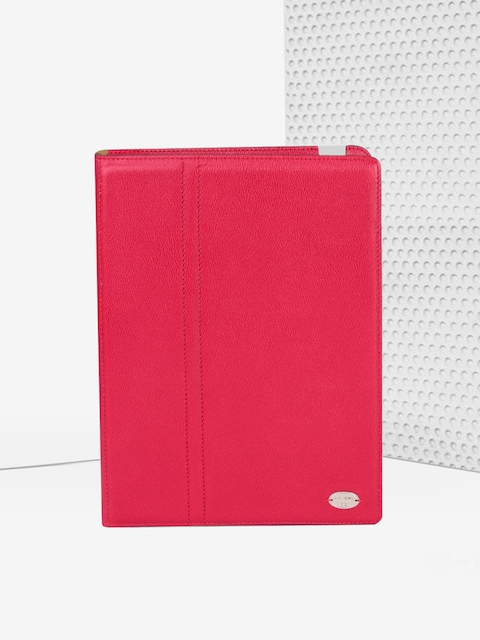 LANCEL Unisex Red Leather iPad Case
