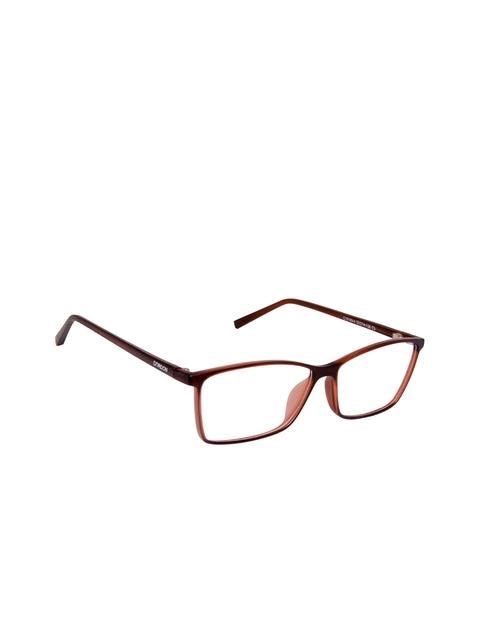 Cardon Unisex Brown Solid Full Rim Rectangle Frames