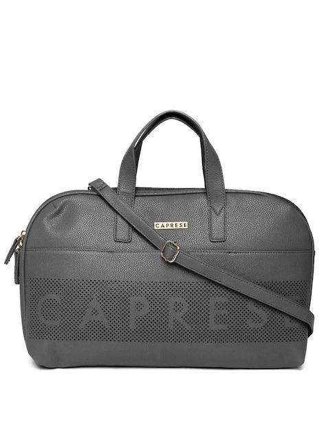 Caprese Black Solid Handheld Bag