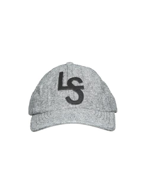 Levis Men Grey Solid Baseball Cap