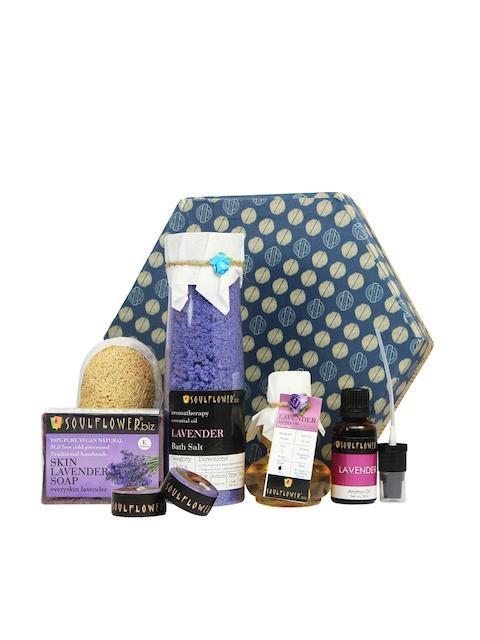 Soulflower Lavender Hexagon Bath Giftset