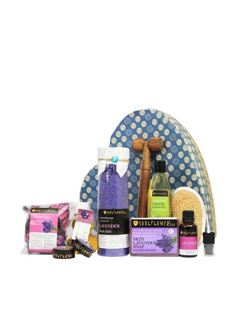Soulflower Lavender Heart Bath Giftset
