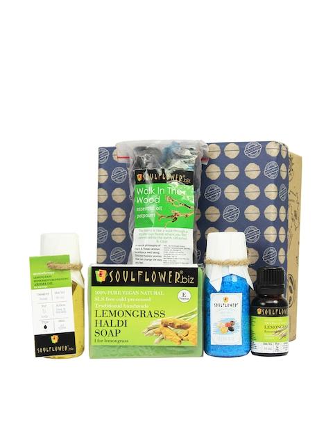 Soulflower Lemongrass Try Me Bath Giftset