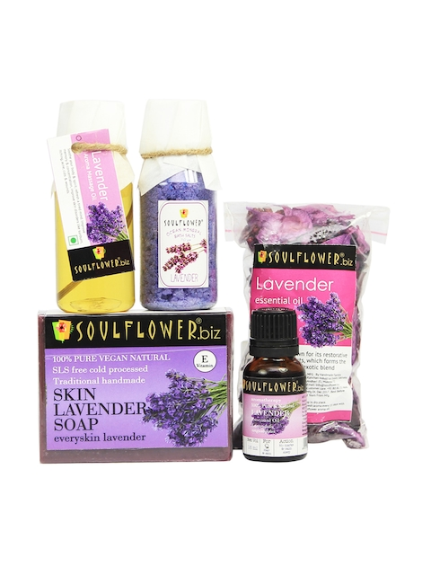 Soulflower Lavender Try Me  Bath Giftset