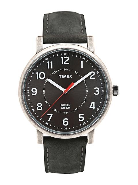 Timex Men Black Analogue Watch T2P219