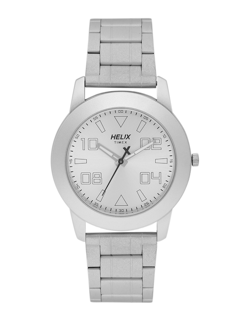 Helix by Timex Men Silver-Toned Analogue Watch TW028HG03
