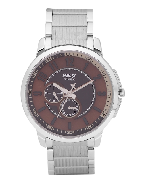 Helix by Timex Men Bronze-Toned Analogue Watch TW027HG12