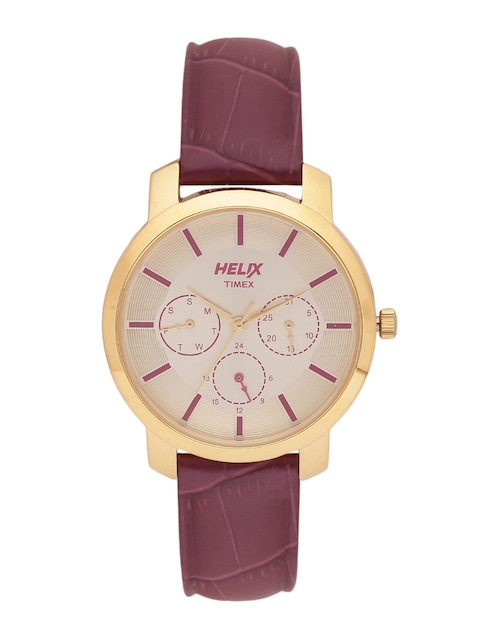 Helix by Timex Women Gold-Toned Analogue Watch TW032HL07