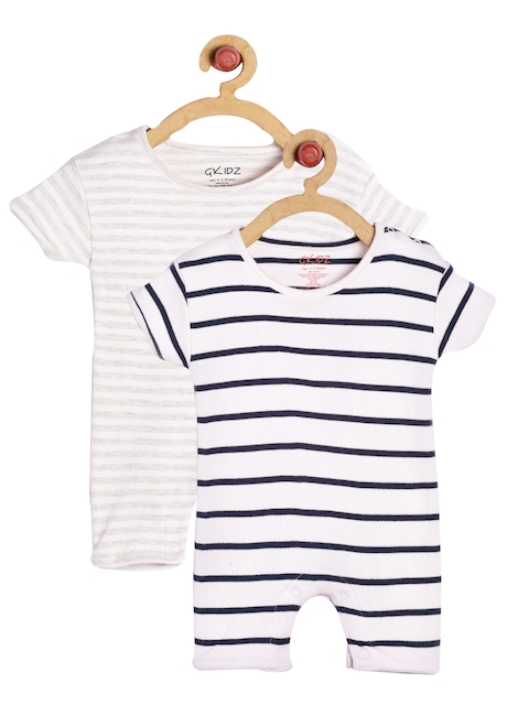 Cherry Crumble Pink and Navy Blue Stripe Bodysuit