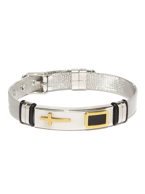 Moxie Silver-Toned Stainless Steel Wraparound Bracelet