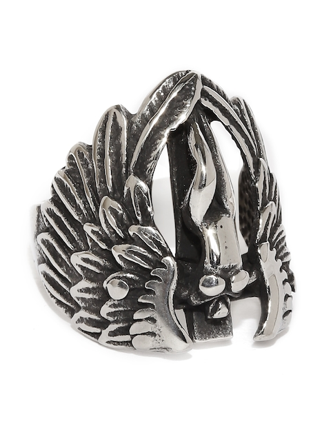 Moxie Men Silver-Toned Contemporary Ring