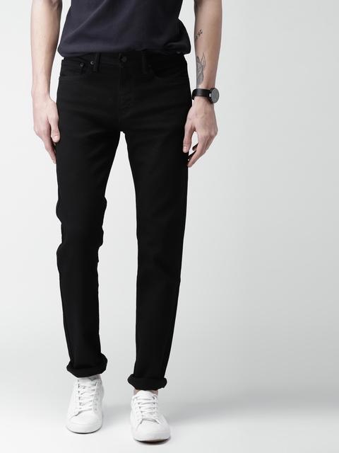 Levis Men Black Slim Fit Low-Rise Clean Look Stretchable Jeans 511