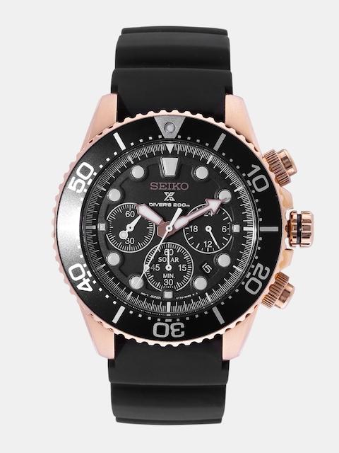 SEIKO Men Black Multifunction Analogue Watch SSC618P1