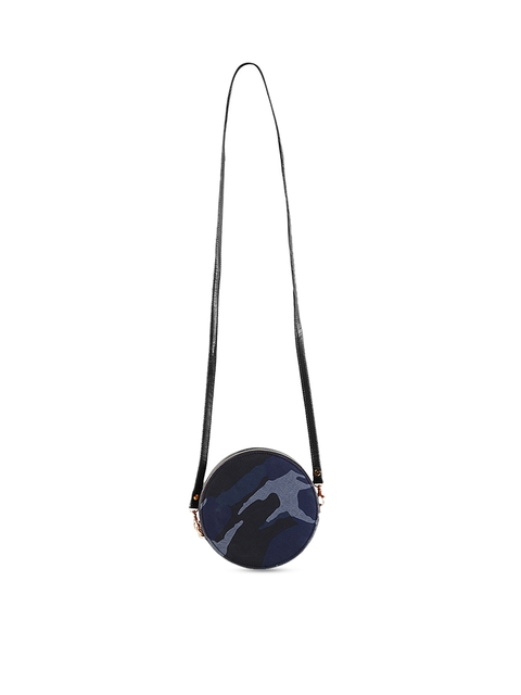 Mochi Black & Blue Printed Sling Bag