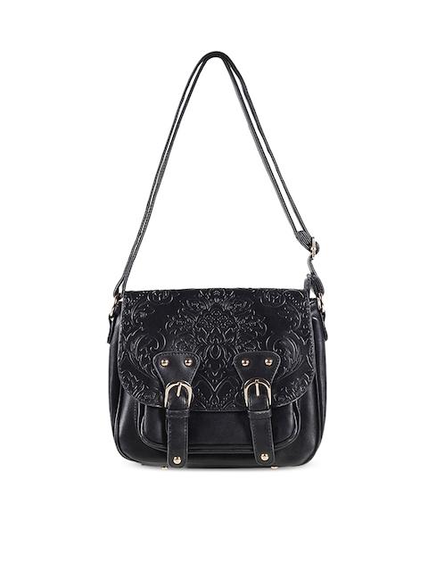 Mochi Black Solid Sling Bag