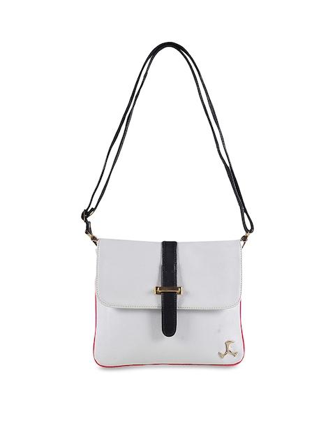 Mochi White Solid Sling Bag