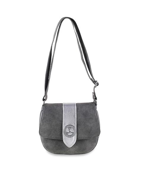 Mochi Grey Solid Sling Bag