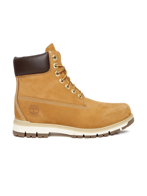 Timberland Men Tan Brown RADFORD 6 WP Leather High-Top Flat Boots