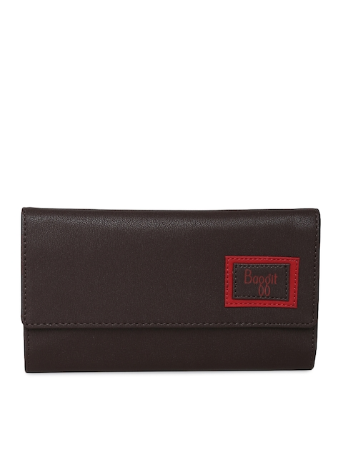 Baggit Women Brown Solid Two Fold Wallet