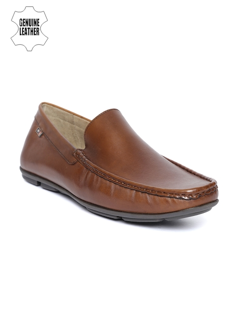 Arrow Men Tan Brown Genuine Leather Loafers