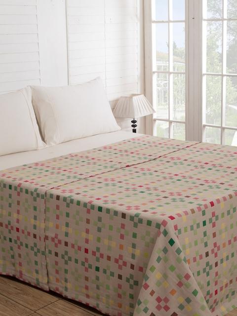 MASPAR Beige Single Bed Cover