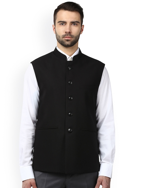Raymond Men Black Formal Nehru Jacket