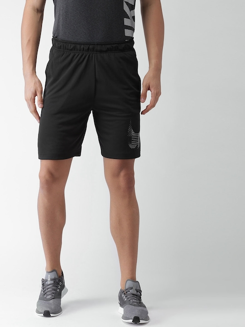 Nike Men Black DRI-FIT Training Shorts