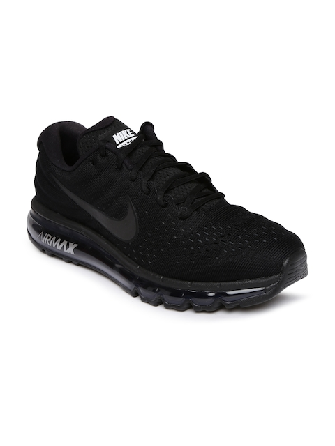 Nike Men Black Air Max 2017 Running Shoes