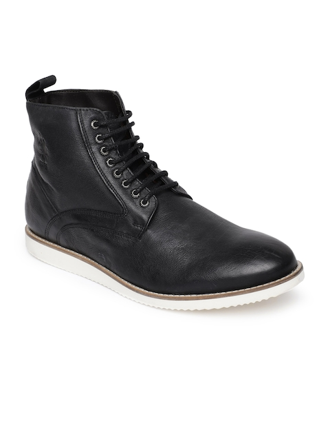 U.S. Polo Assn. Men Black Flat Boots