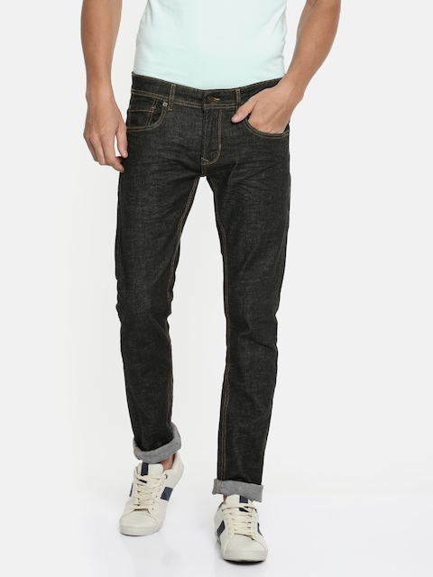 Peter England Casuals Men Black Skinny Fit Low-Rise Clean Look Stretchable Jeans