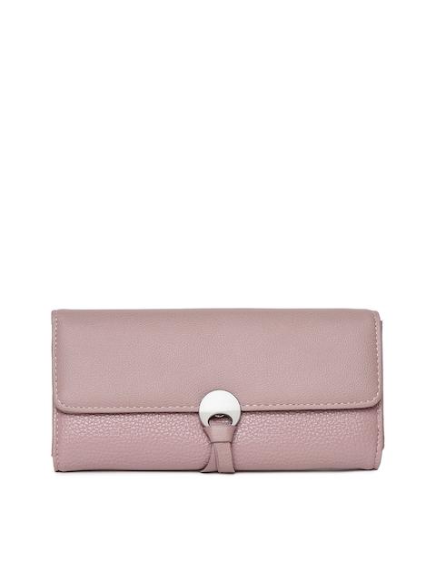Alvaro Castagnino Women Pink Solid Three Fold Wallet