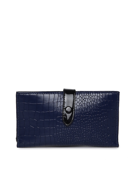 Alvaro Castagnino Women Blue Textured Two Fold Wallet