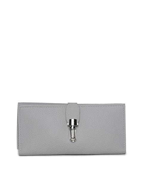Alvaro Castagnino Women Grey Textured Three Fold Wallet