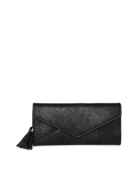 Alvaro Castagnino Women Black Textured Three Fold Wallet