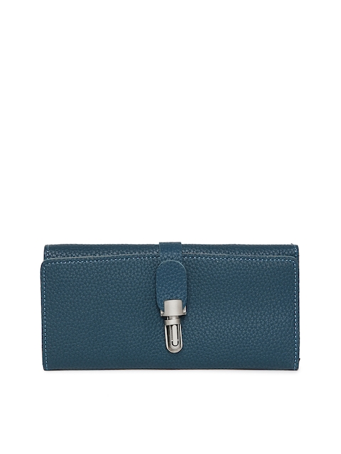 Alvaro Castagnino Women Blue Textured Three Fold Wallet