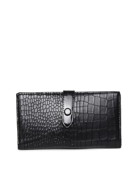 Alvaro Castagnino Women Black Textured Two Fold Wallet